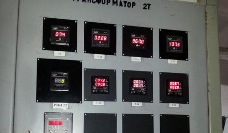 Пример использования цифровых индикаторов серии ИЦ400 на трансформаторных подстанциях.