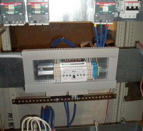 Шкаф АВР на два ввода и одну нагрузку, выполненный на БУАВР.К и контакторах.